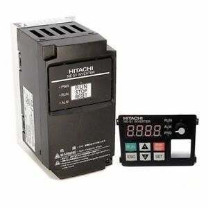 Hitachi Nes1 007lb 1 Hp 230 Vac 3 Phase Input Vfd With Operator