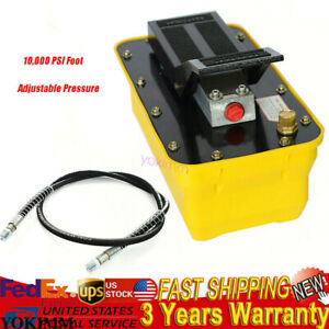 Air Powered Hydraulic Pump 10 000 Psi Foot Operated Pump 0 75 0 95 lmin New