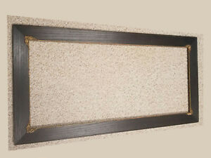Large Antique Oak Dry Dark Stain Frame 45x23 W Gesso Trim Liner