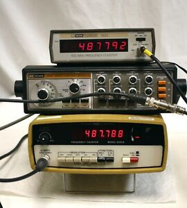 Systron Donner 6241a Frequency Counter 20hz 100 Mhz Adjustable Sensitivity