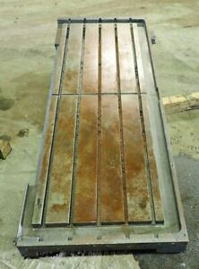 76 25 X 29 375 X 5 5 Steel Welding 5 T slotted Table Layout Plate J