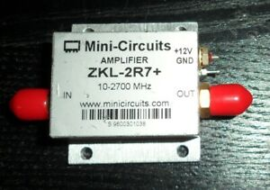 Mini circuits Zkl 2r7 Rf Low Noise Broadband Amplifier 10 Mhz To 2 7 Ghz Sma