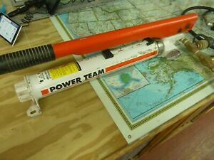 Power Team Hydraulic Hand Pump With Hose And Coupler P 55 Nice