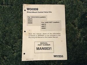 Man0031 A New Installation Manual For A Woods Direct mount Control Valve Kits