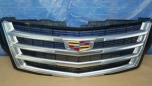 15 16 Escalade Grille Platinum Premium With Camera 23329115 Oem 2015 2016
