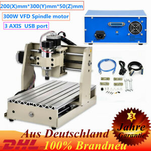 Usb 3 Axis 3020 Router Engraver Milling Machine Cnc 300w Carving Cutting Desktop