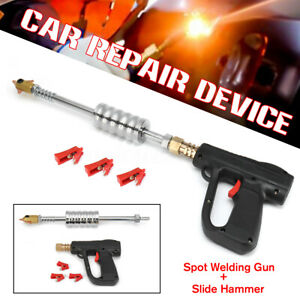 Car Body Welding Slide Hammer Spot Stud Welder Gun Dent Repair Dent Puller Kit