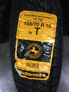 4 New 155 70 15 Continental Winter Contact Ts760 Snow Tires