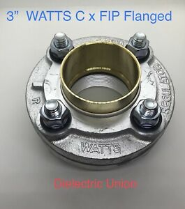 3 Pipe Watts 3lf3100m3 Flanged Dielectric Union C X Fip Copper Tube X Thread
