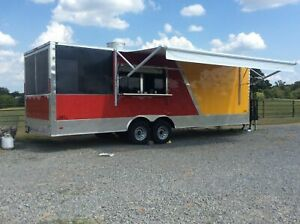 2019 8 5 X 26 Freedom Food Concession Trailer With Porch For Sale In Texas