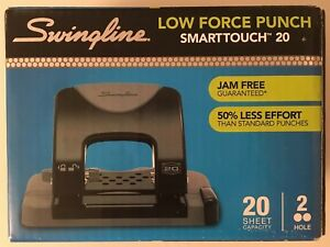 Swingline Smarttouch 2 0 2 hole Low force Punch 20 sheet Capacity