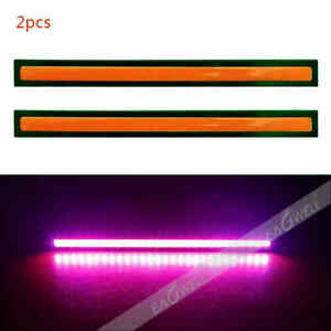 Waterproof Strip Car Cob Led Light Drl Fog Driving Daytime Running Lamp Red 17cm