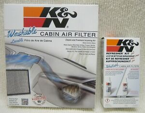 Combo K N Vf3001 Cabin Air Filter And K N 99 6000 Cabin Filter Cleaning Care Kit