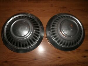 1960 70 S Dodge Pick Up Truck Dog Dish Hubcaps Set Of 2 Free Ship