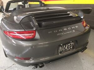 Porsche 991 Carrera Gtr Aerokit Tail Wing Spoiler Fits 2012 To 2016 Coupe Cab