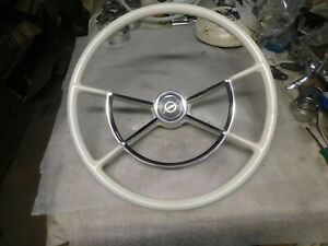 1961 1967 Ford Big Truck Four Spoke Steering Wheel Horn Ring Rat Rod Special