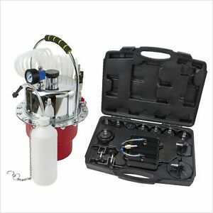 Pro Portable Pneumatic Air Pressure Kit Brake Clutch Bleeder Valve System Kit
