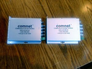 Comnet 4 channel Digital Video Multiplexer Fvt41 Transmitter Receiver