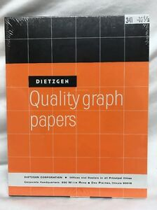 Sealed Vintage Dietzgen 341 Quality Graph Paper 8 5 X 11 100 Sheets