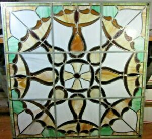 Vintage Stained Glass Window Original Absolutley Gorgeous 41 X 41 Inches Vgc