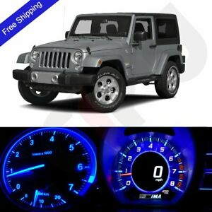 Blue Led Dash Instrument Speedometer Lighting Kit Fits 1997 2006 Jeep Wrangler