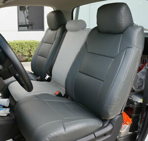 Charcoal S leather Custom Made Fit 2 Front Seat Covers For 2014 21 Toyota Tundra