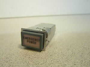 Emergency Power Push Switch P n Sm a 821784 10 Appears Unused