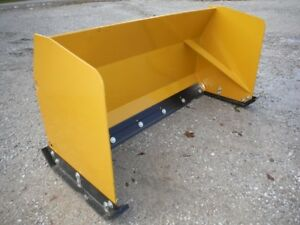 New Unused 68 Snow Pusher Blade Plow Skid Steer Loader Attachment