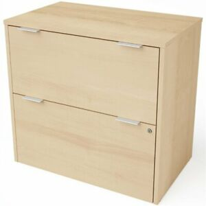 Bestar I3 Plus 2 Drawer Lateral File Cabinet In Northern Maple