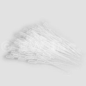 100 0 2ml Paint Pipettes Airbrush Plastic Eye Dropper Graduated Pipettes For Lab
