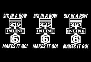 2 Inline Six 216 235 261 Engine Piston Decals Straight 6 Stickers Stovebolt I6