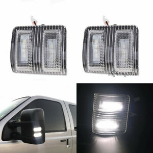 Clear Lens Side Mirror Led Signal Marker Light For Ford F250 F350 F450super Duty
