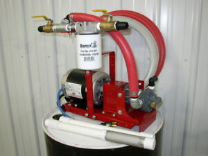 New Complete Waste Oil Transfer filtration Pump 10 Micron heaters burner furnace