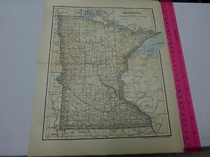 1891 1903 Map Of Minnesota