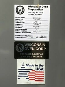 New Wisconsin 8 X 8 X 12 Powder Coating curing Oven