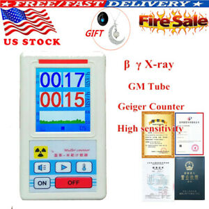 Geiger Counter Nuclear Radiation Detector Personal Dosimeters Marble Tester Usa