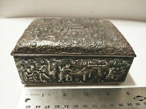 Antique Vintage Barbour S P Co International Silver Plate Cigarette Box 3949