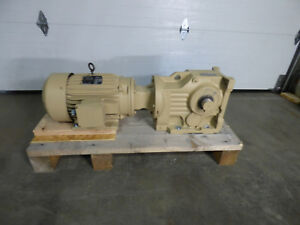 10 Hp Electric Motor And Sew Eurodrive 13 7 Rpm Unused Need The Space Gotta Go
