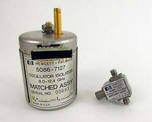 Hp 5086 7127 Oscillator Isolator Matched Assy 8 12 4ghz From 86250d Plug in
