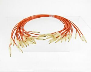 Lot Of 25 Amp Tyco 395223 6 Jumper Wire 15 Cables Gold Pin