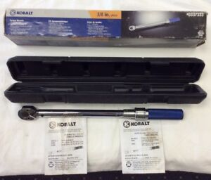 Kobalt Torque Wrench 3 8 Drive W original Box Hard Plastic Case In Exc Cond