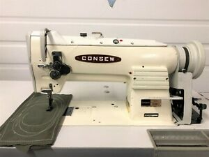 Consew 255rb 2 Walking Foot Big Bobbin rev 110v Servo Industrial Sewing Machine