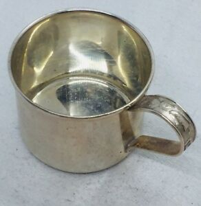Lunt Vintage Sterling Silver Nursery Abc Train Baby Cup