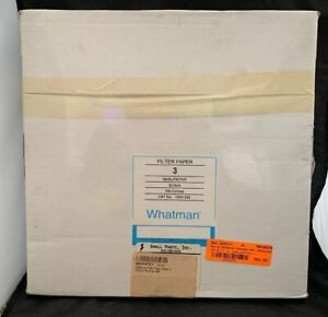Whatman Grade 3 Filter Papers 32 0cm 1003320 Qty 100 Sealed New