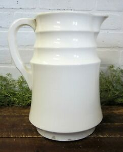Vintage Large Off White Ironstone Type 11 5 Pitcher Waechtersbach Farmhouse