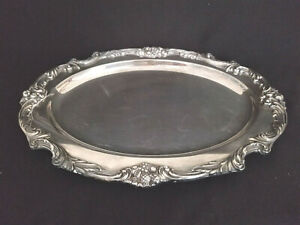 Reed Barton 1642 King Francis Oval Meat Platter Silverplate 16 1 2 X 12