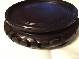 4 1 4 Chinese Carved Teak Rosewood Stand Base Wooden Japanese Asian 1 1 4 High