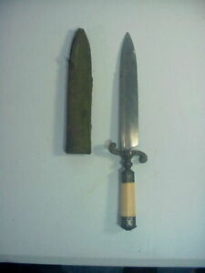 Antique 19th Century Ottoman Empire Spear Point Islamic Bowie Knife