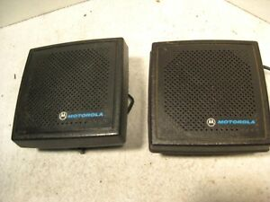Pair Motorola Two way External Radio Speakers