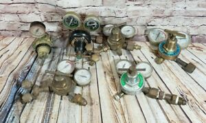 Lot 6 Compressed Gas Oxygen Regulators Parts Steampunk Craftsman Victor Napa